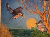Kingfishers at play