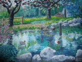Spring at the duckpond at Deer lake